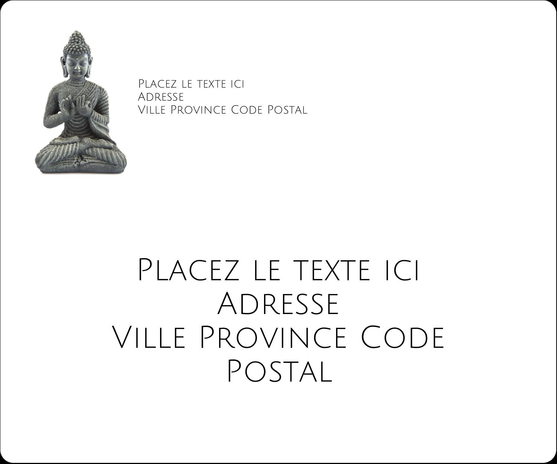 """½"""" x 1¾"""" Étiquettes D'Adresse - Bouddha"""