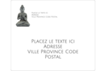 Bouddha Étiquettes D'Adresse - gabarit prédéfini. <br/>Utilisez notre logiciel Avery Design & Print Online pour personnaliser facilement la conception.