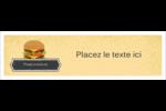 Hamburger Affichette - gabarit prédéfini. <br/>Utilisez notre logiciel Avery Design & Print Online pour personnaliser facilement la conception.