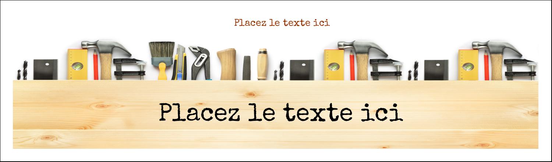 "3½"" x 11"" Affichette - Menuiserie"
