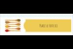 Cuillères Affichette - gabarit prédéfini. <br/>Utilisez notre logiciel Avery Design & Print Online pour personnaliser facilement la conception.