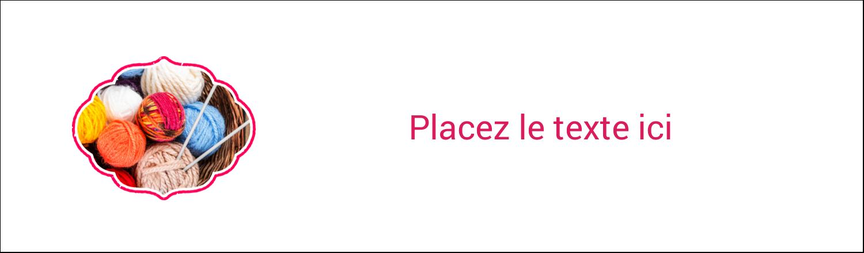 "3½"" x 11"" Affichette - Tricot"