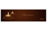 Lumières Divali Affichette - gabarit prédéfini. <br/>Utilisez notre logiciel Avery Design & Print Online pour personnaliser facilement la conception.