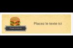 Hamburger Carte de note - gabarit prédéfini. <br/>Utilisez notre logiciel Avery Design & Print Online pour personnaliser facilement la conception.