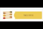 Cuillères Carte de note - gabarit prédéfini. <br/>Utilisez notre logiciel Avery Design & Print Online pour personnaliser facilement la conception.