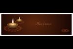 Lumières Divali Carte de note - gabarit prédéfini. <br/>Utilisez notre logiciel Avery Design & Print Online pour personnaliser facilement la conception.