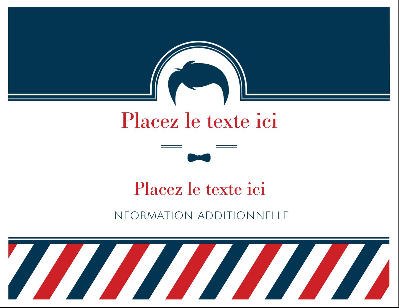 """8½"""" x 11"""" Cartes Et Articles D'Artisanat Imprimables - Salon de barbier"""
