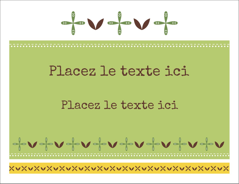 """8½"""" x 11"""" Cartes Et Articles D'Artisanat Imprimables - Fleurs vertes géométriques"""