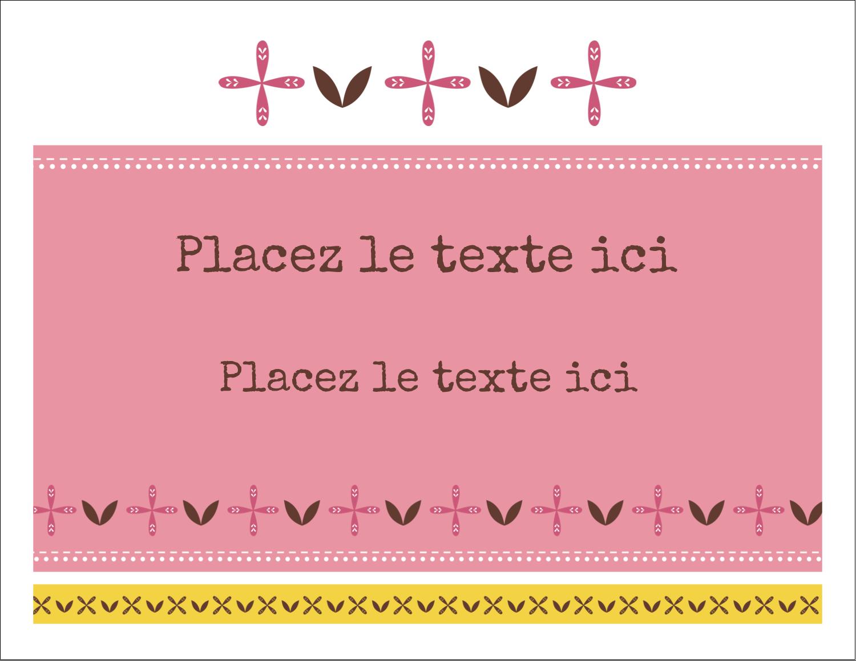 """8½"""" x 11"""" Cartes Et Articles D'Artisanat Imprimables - Fleurs roses géométriques"""