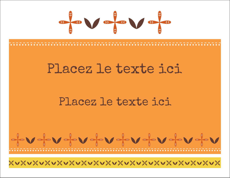 """8½"""" x 11"""" Cartes Et Articles D'Artisanat Imprimables - Fleurs orange géométriques"""
