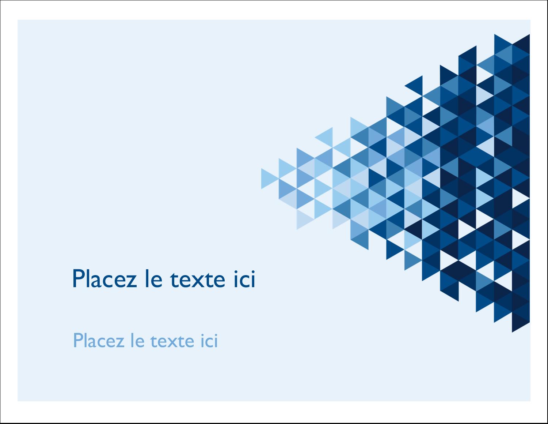 """8½"""" x 11"""" Cartes Et Articles D'Artisanat Imprimables - Angles bleus"""