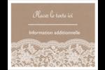 Dentelle de jute Cartes Et Articles D'Artisanat Imprimables - gabarit prédéfini. <br/>Utilisez notre logiciel Avery Design & Print Online pour personnaliser facilement la conception.