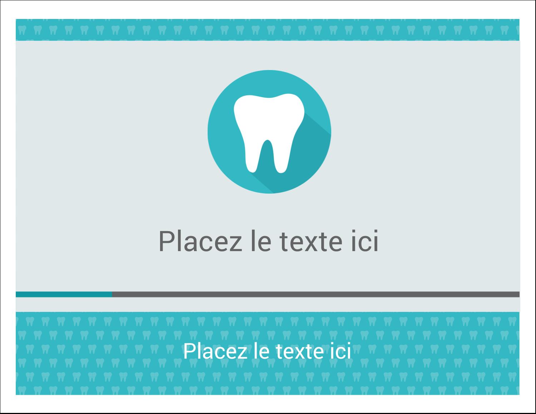 """8½"""" x 11"""" Cartes Et Articles D'Artisanat Imprimables - Dent"""