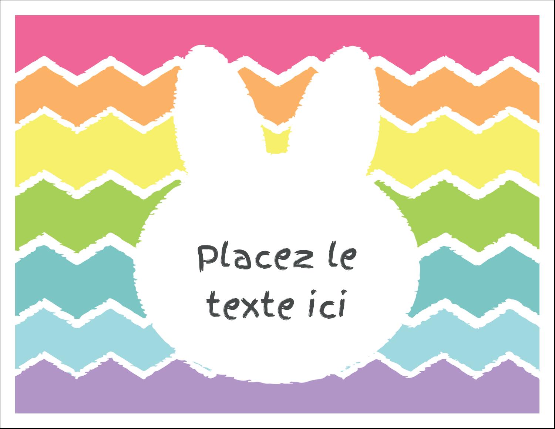 """8½"""" x 11"""" Cartes Et Articles D'Artisanat Imprimables - Lapin Bonbon"""