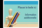 Enseignement des arts Cartes Et Articles D'Artisanat Imprimables - gabarit prédéfini. <br/>Utilisez notre logiciel Avery Design & Print Online pour personnaliser facilement la conception.
