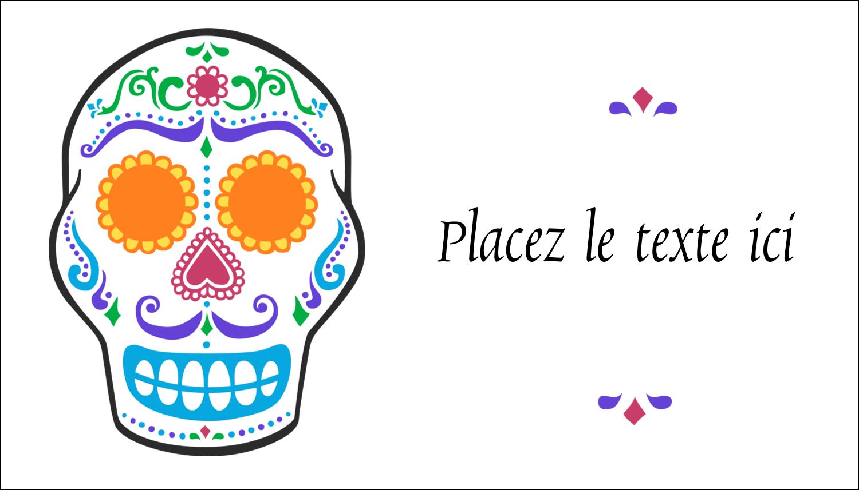 """2"""" x 3½"""" Carte d'affaire - Le jour du Crâne"""