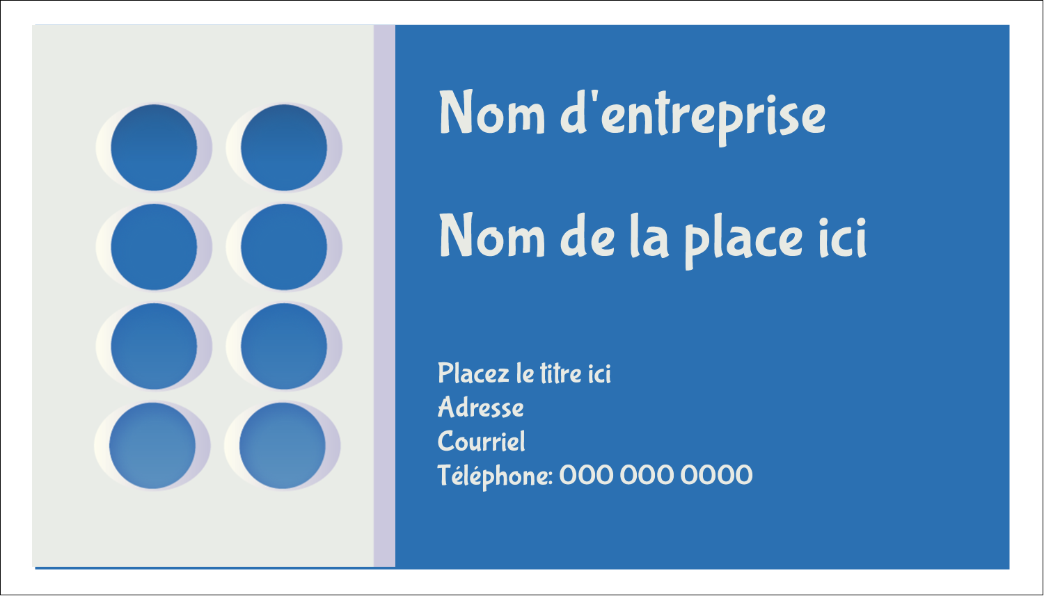 "2"" x 3½"" Carte d'affaire - 4e étage"