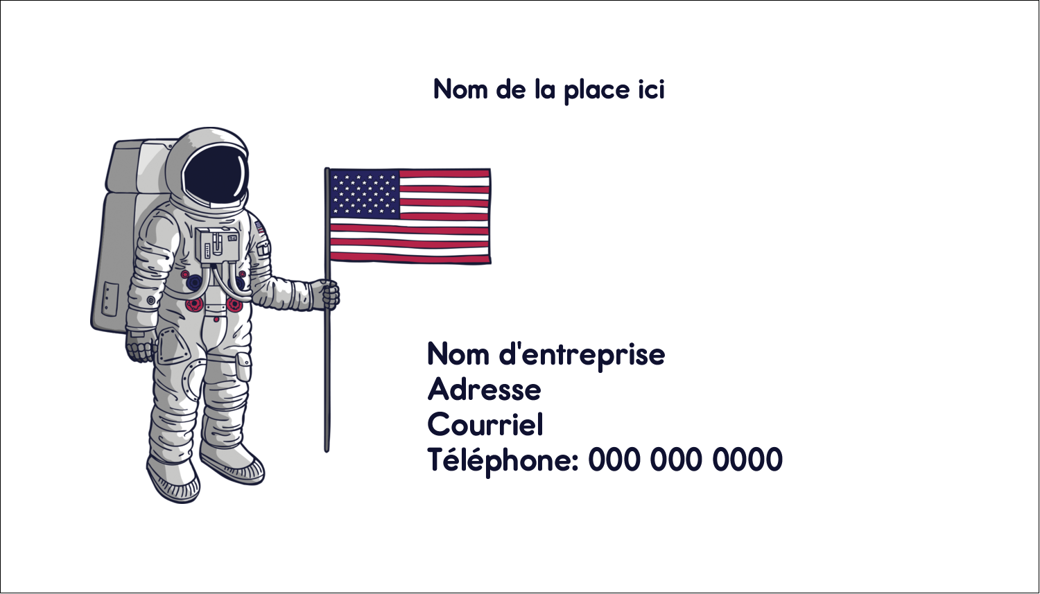 "2"" x 3½"" Carte d'affaire - Astronaute"