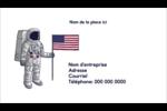 Astronaute Carte d'affaire - gabarit prédéfini. <br/>Utilisez notre logiciel Avery Design & Print Online pour personnaliser facilement la conception.