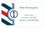 Enseigne de barbier audacieuse Cartes d'affaires - gabarit prédéfini. <br/>Utilisez notre logiciel Avery Design & Print Online pour personnaliser facilement la conception.
