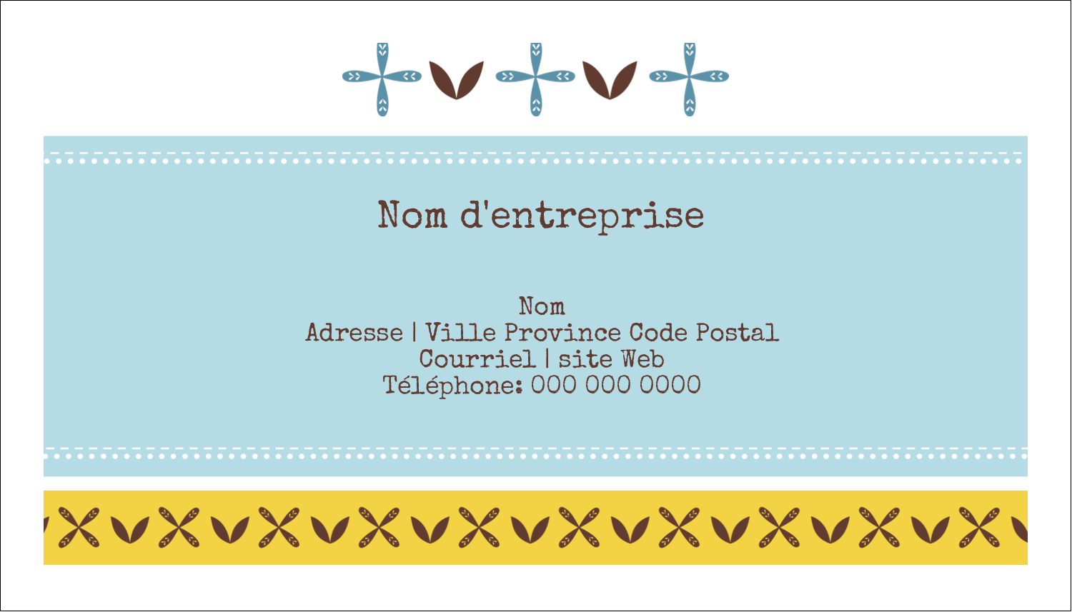"2"" x 3½"" Carte d'affaire - Bain bleu"