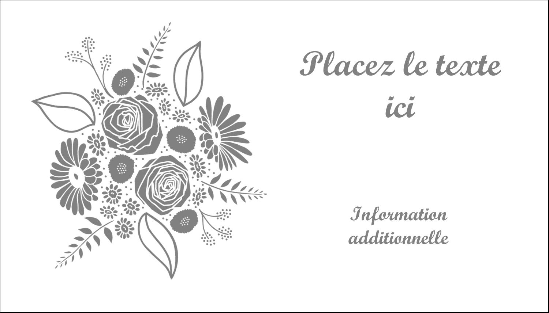 """2"""" x 3½"""" Carte d'affaire - Bouquet de fleurs"""