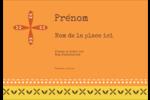 Fleurs orange géométriques Étiquettes à codage couleur - gabarit prédéfini. <br/>Utilisez notre logiciel Avery Design & Print Online pour personnaliser facilement la conception.