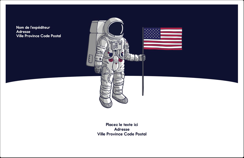 """1½"""" x 4"""" Étiquettes d'adresse - Astronaute"""
