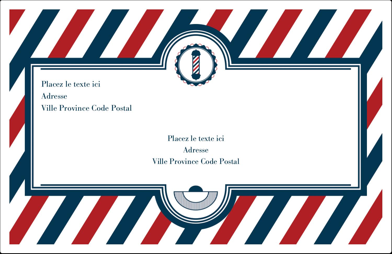 """8½"""" x 5½"""" Étiquettes d'expédition - Enseigne de barbier audacieuse"""