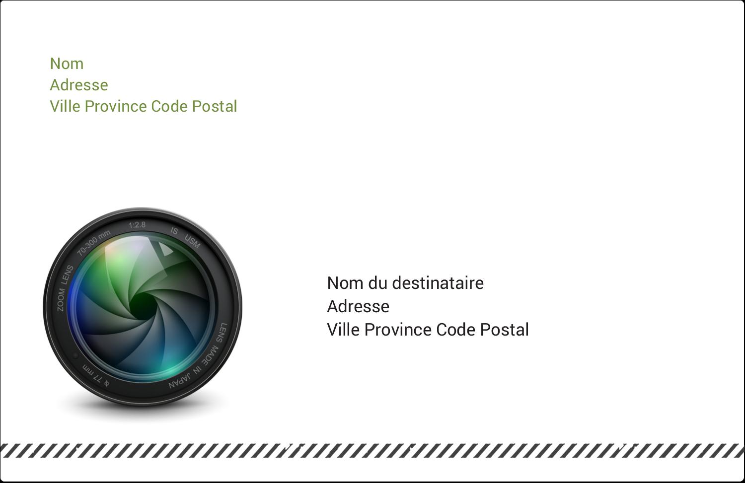 """1½"""" x 4"""" Étiquettes d'adresse - Objectif"""