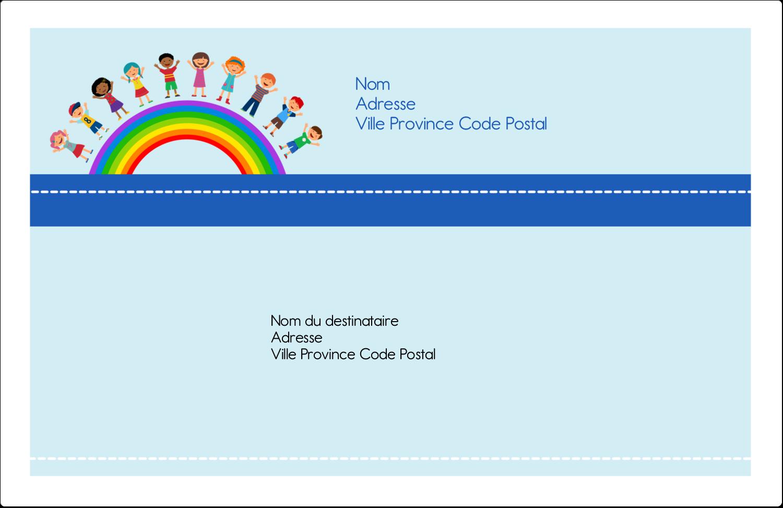 """1½"""" x 4"""" Étiquettes d'adresse - Éducation des enfants"""