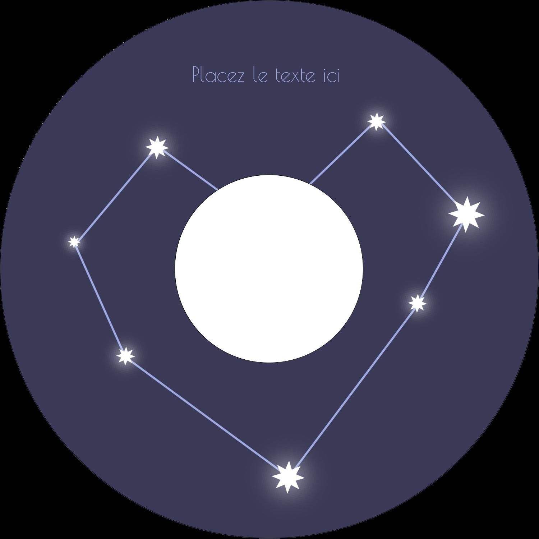 """⅔"""" x 3-7/16"""" Étiquettes de classement - Étoiles d'anniversaire"""