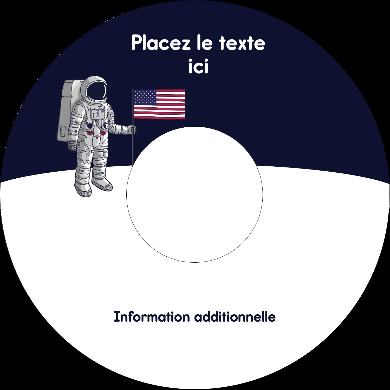 """⅔"""" x 3-7/16"""" Étiquettes de classement - Astronaute"""