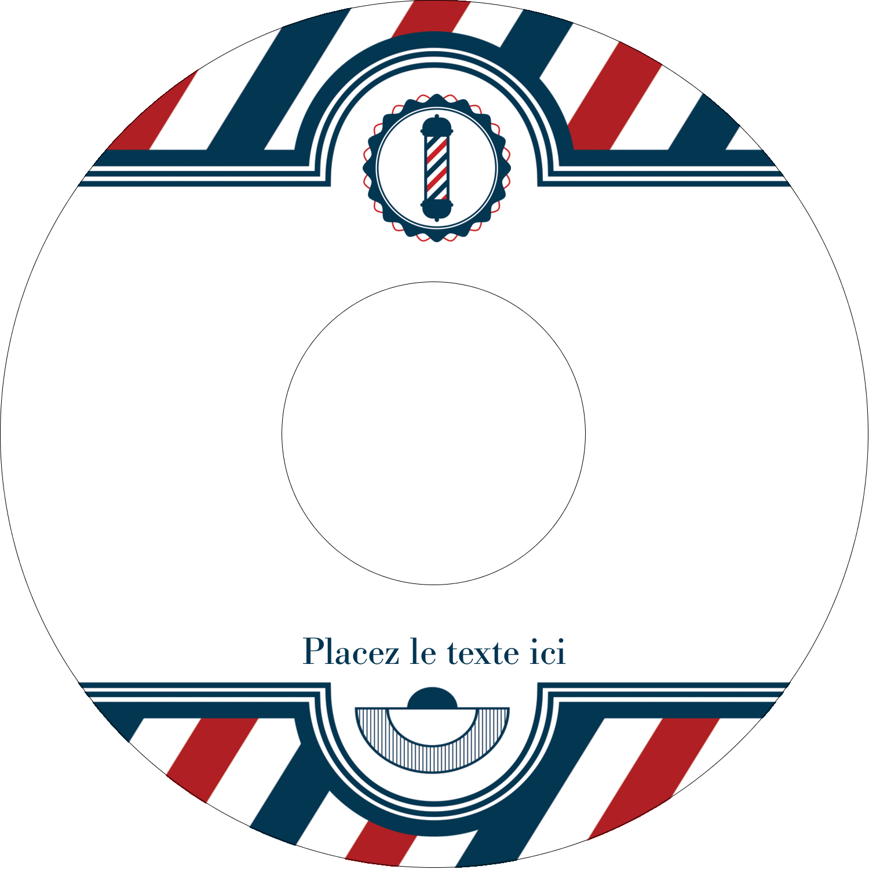 CD/DVD Étiquettes Pour Médias - Enseigne de barbier audacieuse