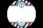 Enseigne de barbier audacieuse Étiquettes Pour Médias - gabarit prédéfini. <br/>Utilisez notre logiciel Avery Design & Print Online pour personnaliser facilement la conception.