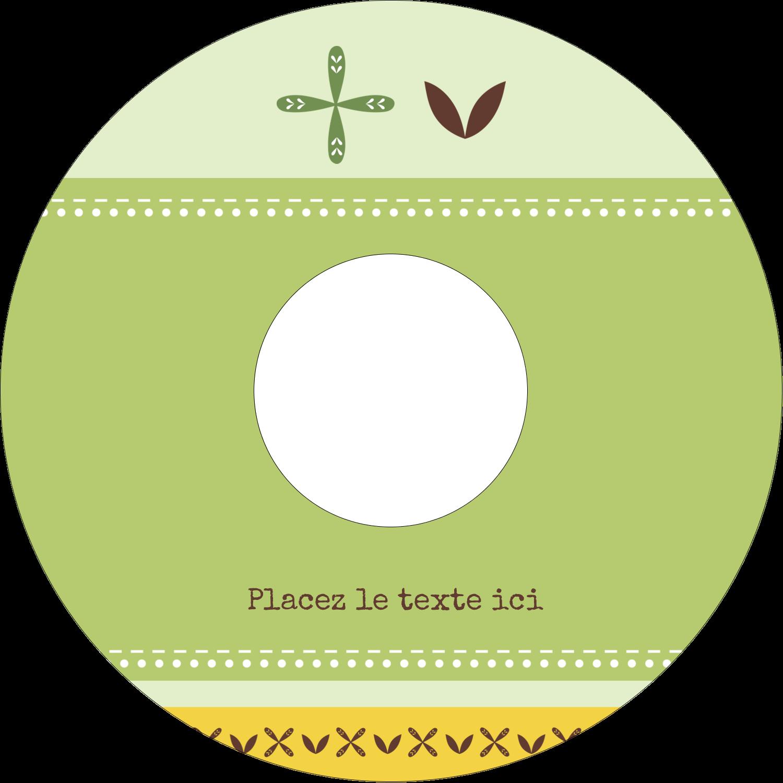 """⅔"""" x 3-7/16"""" Étiquettes de classement - Fleurs vertes géométriques"""