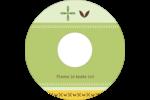 Fleurs vertes géométriques Étiquettes de classement - gabarit prédéfini. <br/>Utilisez notre logiciel Avery Design & Print Online pour personnaliser facilement la conception.