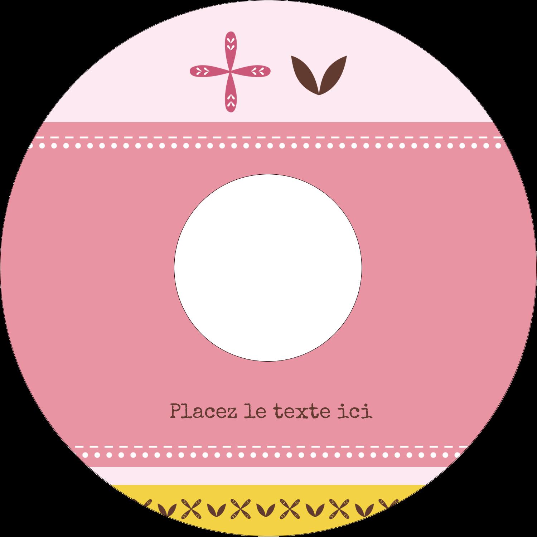 """⅔"""" x 3-7/16"""" Étiquettes de classement - Fleurs roses géométriques"""