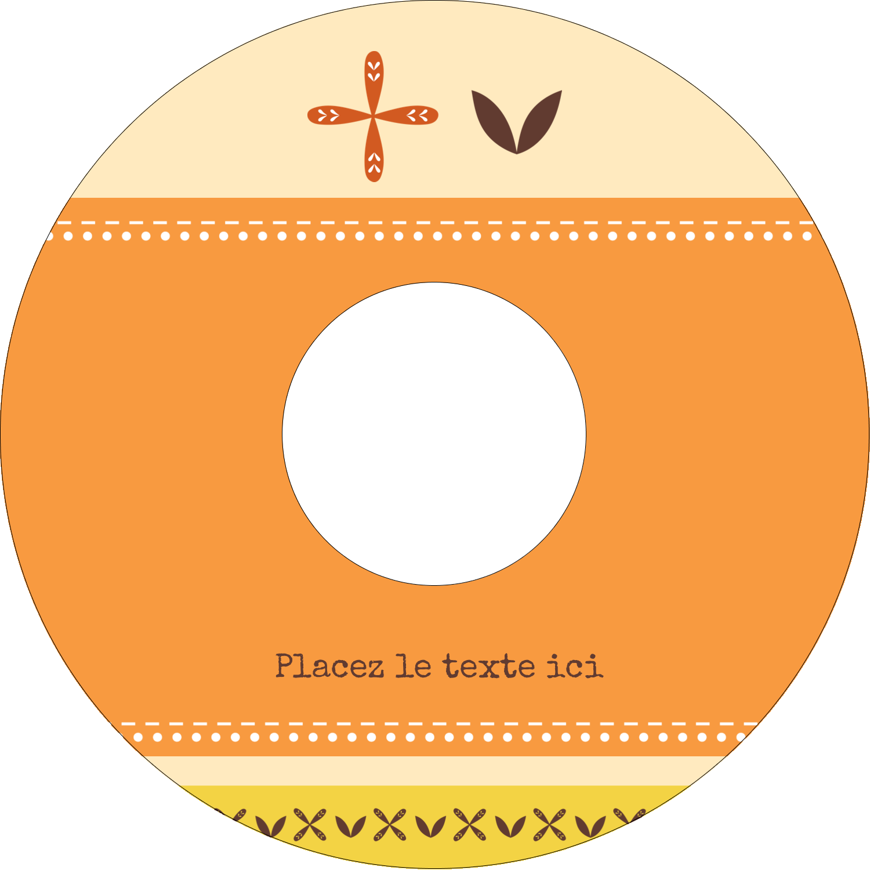 """⅔"""" x 3-7/16"""" Étiquettes de classement - Fleurs orange géométriques"""