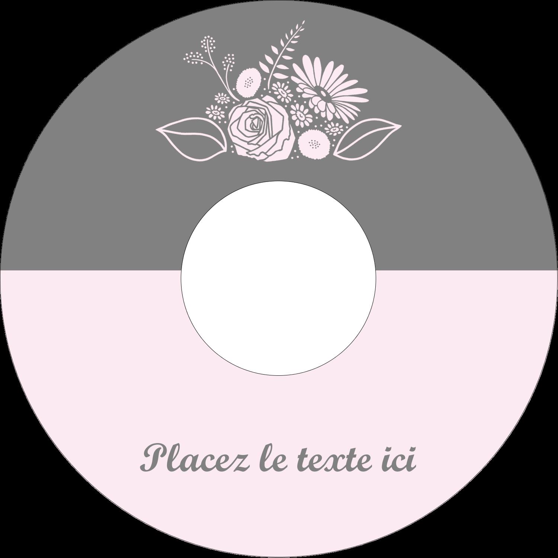 """⅔"""" x 3-7/16"""" Étiquettes de classement - Bouquet de fleurs"""