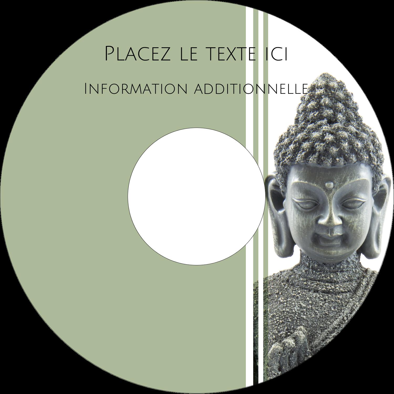 """⅔"""" x 3-7/16"""" Étiquettes de classement - Bouddha"""