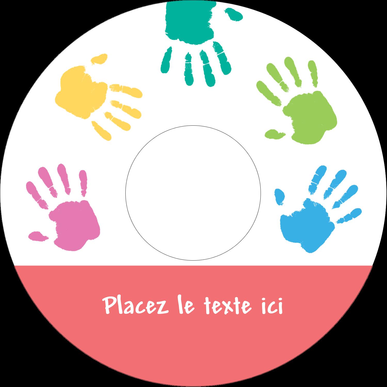 """⅔"""" x 3-7/16"""" Étiquettes de classement - Mains enfantines"""