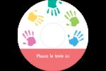 Mains enfantines Étiquettes de classement - gabarit prédéfini. <br/>Utilisez notre logiciel Avery Design & Print Online pour personnaliser facilement la conception.