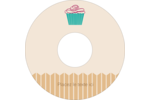 Petit gâteau Étiquettes de classement - gabarit prédéfini. <br/>Utilisez notre logiciel Avery Design & Print Online pour personnaliser facilement la conception.