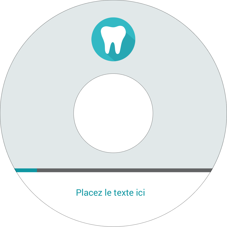 """⅔"""" x 3-7/16"""" Étiquettes de classement - Dent"""