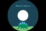 Dinosaure Étiquettes de classement - gabarit prédéfini. <br/>Utilisez notre logiciel Avery Design & Print Online pour personnaliser facilement la conception.