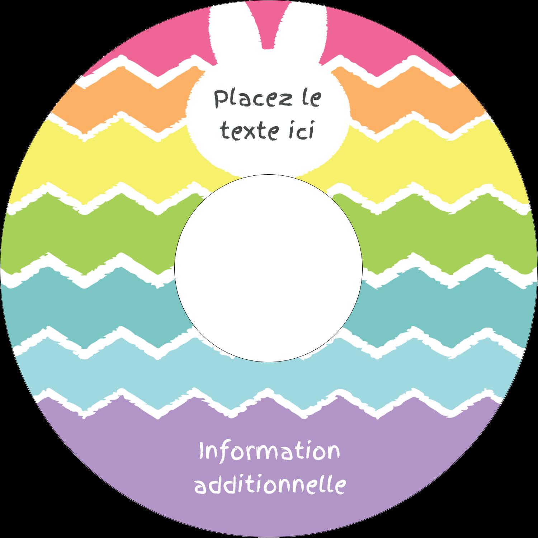 """⅔"""" x 3-7/16"""" Étiquettes de classement - Lapin Bonbon"""