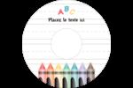 Enseignement préscolaire Étiquettes de classement - gabarit prédéfini. <br/>Utilisez notre logiciel Avery Design & Print Online pour personnaliser facilement la conception.