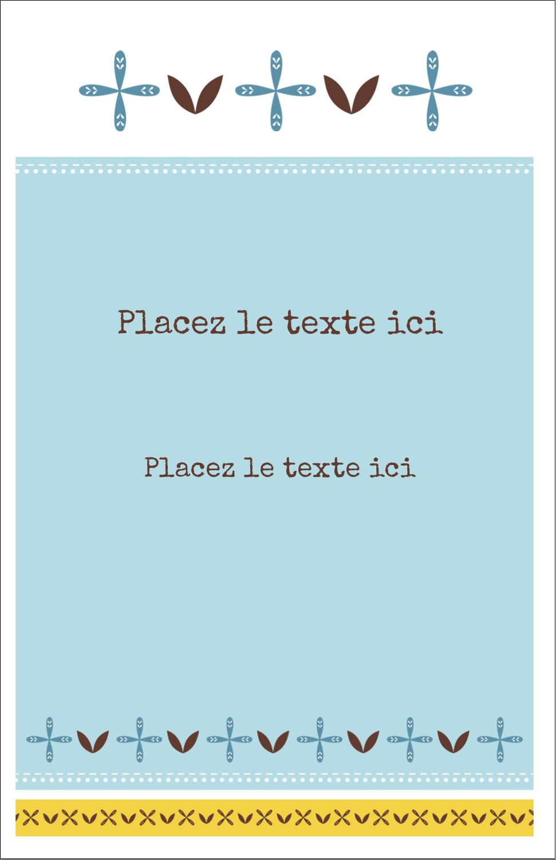 "8½"" x 11"" Binder Insert Reliures - Bain bleu"
