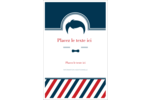 Salon de barbier Reliures - gabarit prédéfini. <br/>Utilisez notre logiciel Avery Design & Print Online pour personnaliser facilement la conception.
